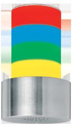 Signalgeber optisch-akustisch vierstufig - 100 mm - 15 Signaltöne - RS232