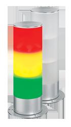 optische Signalgeräte in V2A Edelstahl