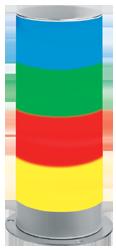 Signalsäule vierstufig mit RS232 Schnittstelle Dauerlicht - 100 mm