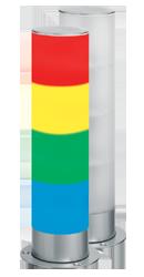 Signalsäule vierstufig mit RS232 Schnittstelle