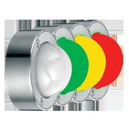 Signalampeln in V2A Edelstahl