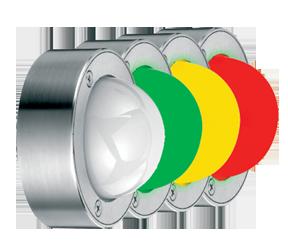 Signalampel mehrfarbig mit Dauerlicht und Blitzlicht