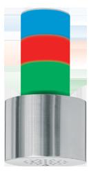 Signalgeber optisch-akustisch dreistufig 15 Signaltöne - RS232 Schnittstelle