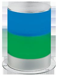 Signalsäule zweistufig mit RS232 Schnittstelle Dauerlicht - 100 mm