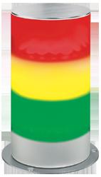 Signalsäule dreistufig mit RS232 Schnittstelle Dauerlicht - 100 mm