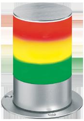 Signalsäule dreistufig mit RS232 Schnittstelle - kleine Bauform
