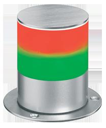 Signalsäule zweistufig Dauerlicht - kleine Bauform