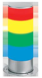 Signalsäule vierstufig Dauerlicht - kleine Bauform