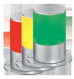 Mehrfarben-Signalleuchte mit Blink- und Blitzlicht